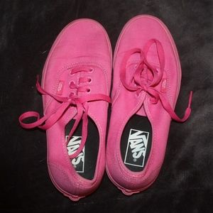 Bright Pink Vans Size 7